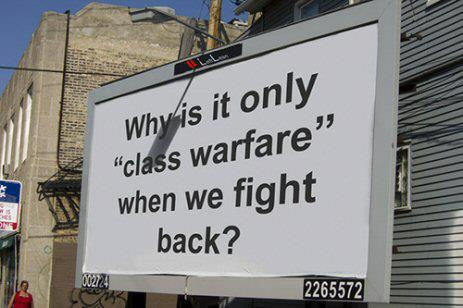 Why is it only class warware when we fight back?