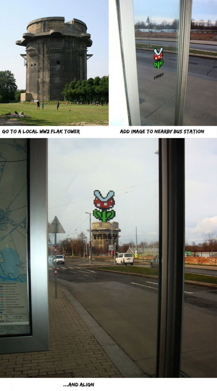 strategically-placed-street-art-by-tabby-super-mario-piranha-plant-at-bus-stop1