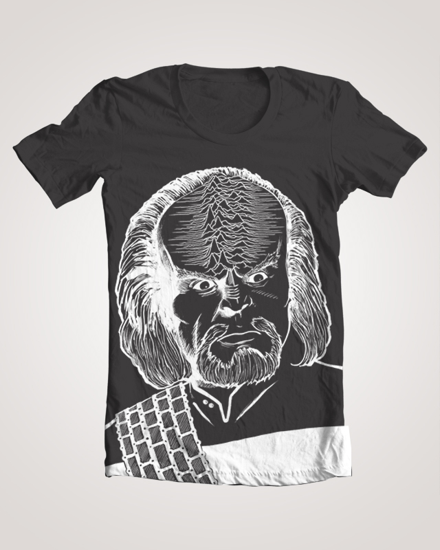 Worf Joy Division Unknown Pleasures TNG Mashup T Shirt