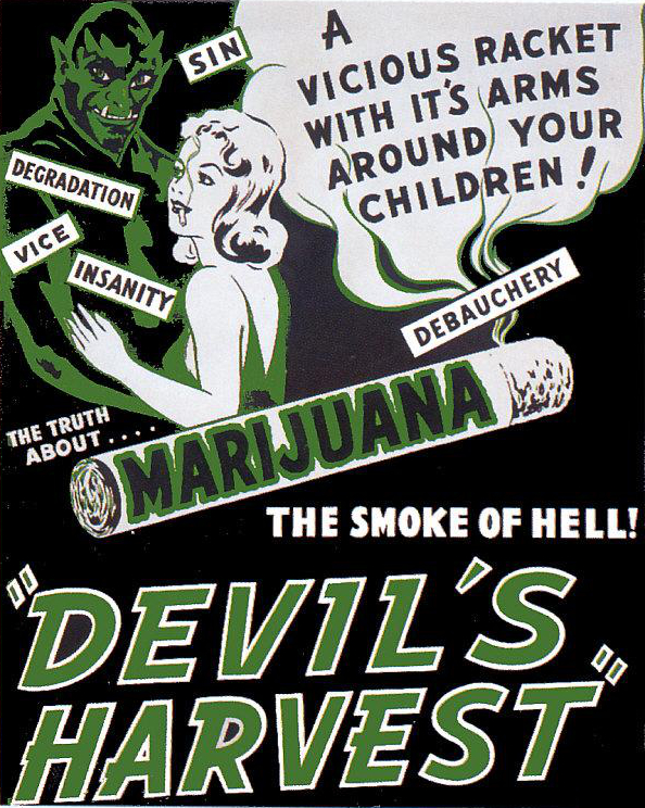 sin | degradation | vice | insanity | debauchery | the truth about marijuana | marihuana | devil's harvest