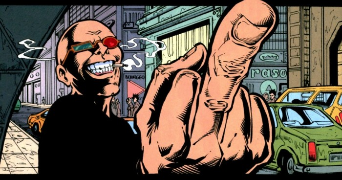 spider jerusalem fuckfinger stinkefinger fuck you