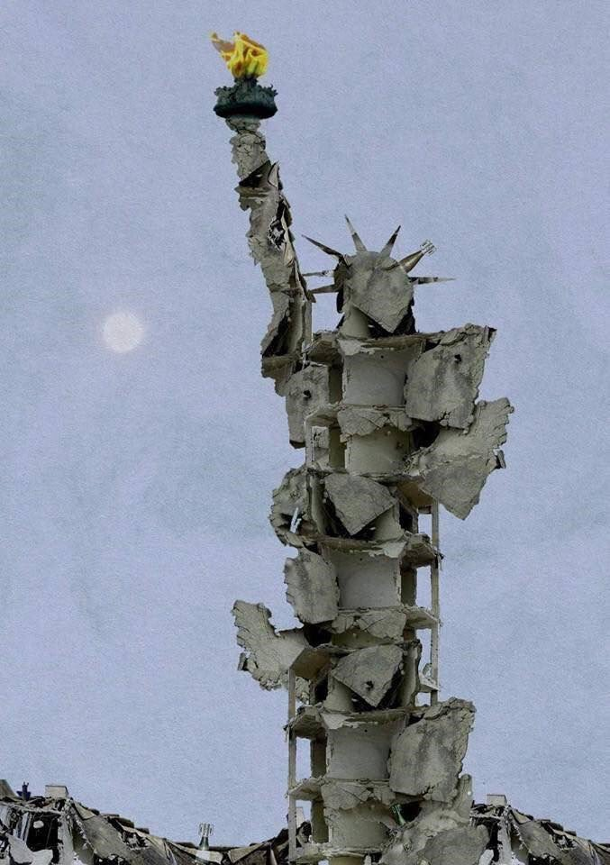 tammam-azzam-statue-of-liberty